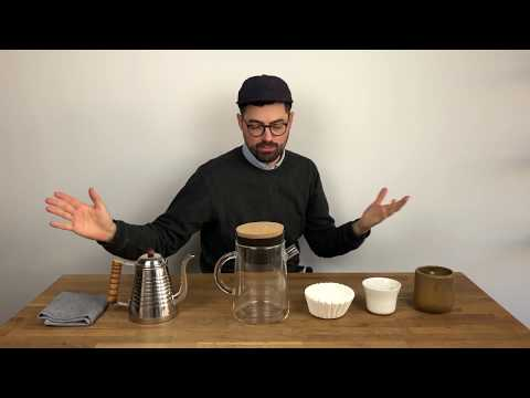 Brewing pour-over coffee with Manual Coffeemaker Nº3