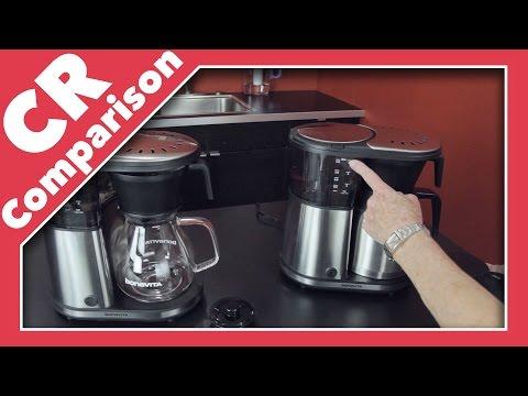 Bonavita 8-Cup Coffee Maker Glass Carafe vs Thermal   CR Comparison