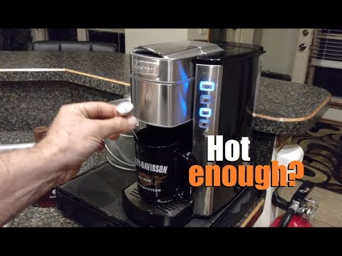 Demo: Cuisinart compact single serve coffee maker (Model SS-6)
