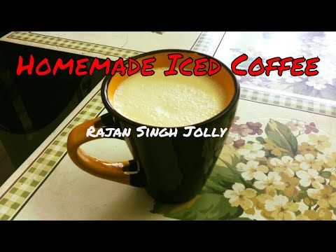 Homemade Iced Coffee Recipe | Homemade Cold Coffee | Instant Cold Coffee Recipe