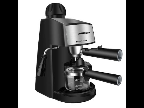 Sowtech steam espresso machine, latte and cappuccino maker with milk frother