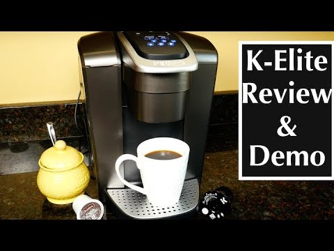 Keurig K-Elite Single Serve K-Cup Pod Coffee Maker Review and Demo