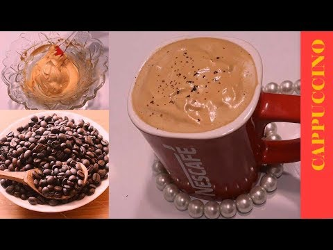 Cappuccino at Home Only 3 Ingredients Cappuccino Coffee Recipe