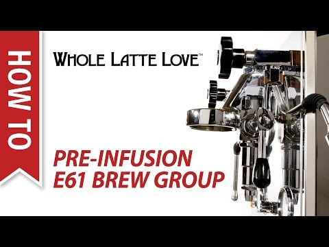 How To: Pre-Infusion on E61 Brew Group Espresso Machines