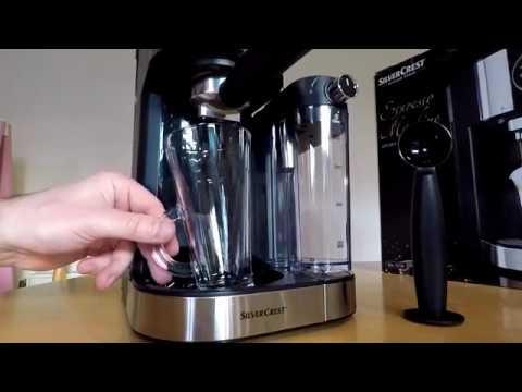 SilverCrest espresso machine from Lidl. Model: SEMM 1470 A1