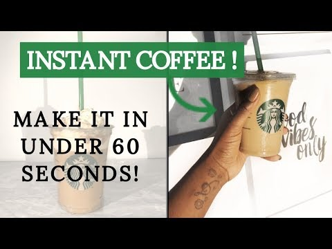 EASY Starbucks Iced Vanilla Latte with INSTANT COFFEE!!