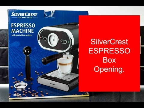 New SilverCrest Espresso Machine unboxing and making coffee Review!