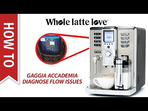 How to Diagnose Flow Issues in the Gaggia Accademia Espresso Machine