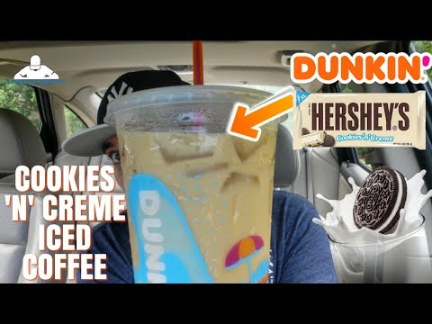 Dunkin'® Cookies 'n' Creme Iced Coffee Review! | Hershey's Candy
