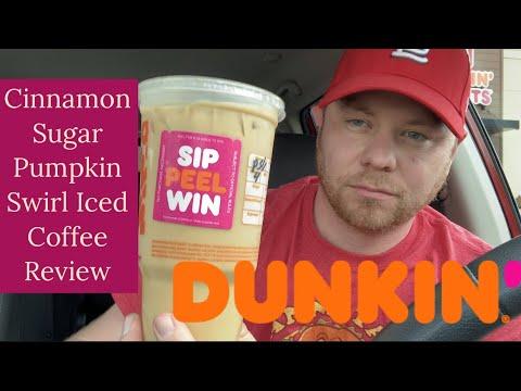 Dunkin' Cinnamon Sugar Pumpkin Swirl Iced Coffee Review – Sip Peel Win