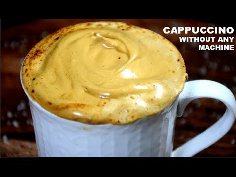 CAPPUCCINO COFFEE AT HOME WITHOUT COFFEE MACHINE | 4 INGREDIENTS ONLY