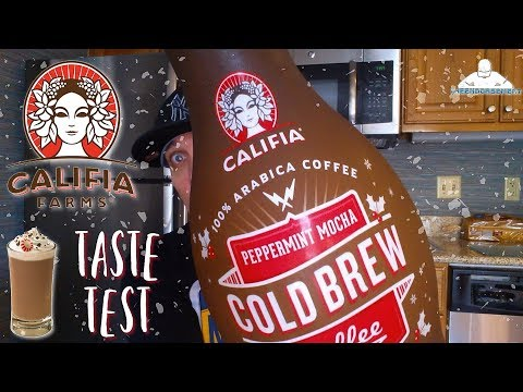 Califia® Peppermint Mocha Cold Brew Coffee Review! 🍬🍫☕