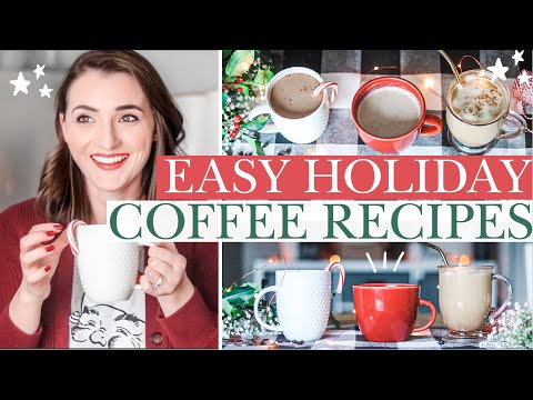 FAVORITE HOLIDAY COFFEE RECIPES! 🎄Healthy & Easy Dupes for Your Favorite Drinks