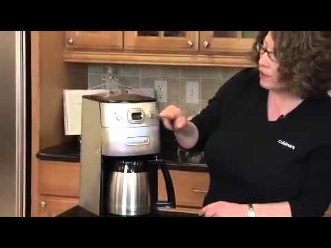 Cuisinart Grind & Brew Thermal 10-Cup Automatic Coffeemaker (DGB 650BC) Demo Video