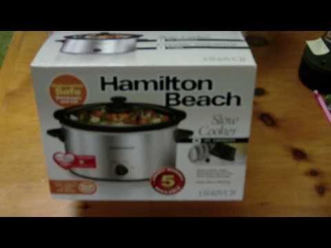 Hamilton Beach Slow Cooker Unboxing Crook Pot 33140VCR