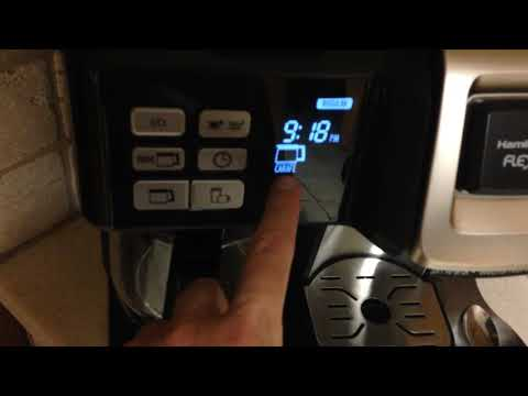 Setting the Hamilton Beach (49950C) FlexBrew Coffee Maker, Single Serve & Full Coffee Pot