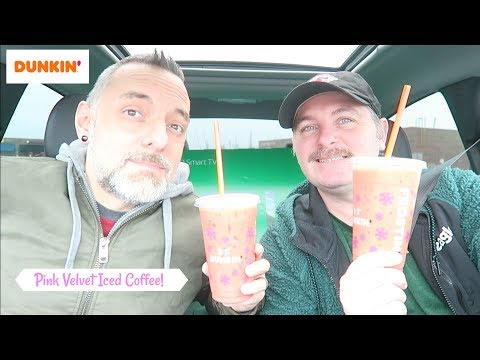 Dunkin' NEW Pink Velvet Iced Coffee Review!