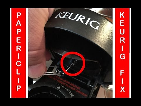 How to fix your Keurig when all else fails! Try my Paper-Clip Trick if it pumps but doesn't flow!