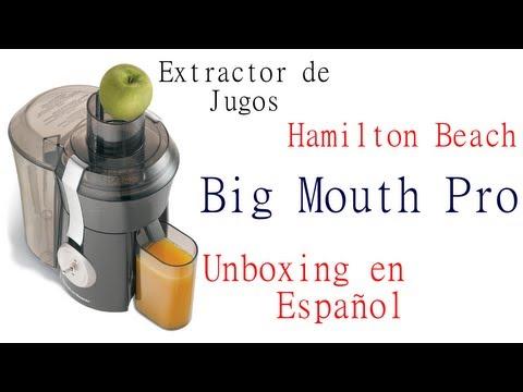 Extractor de Jugos Hamilton Beach Big Mouth Pro – Unboxing en Español