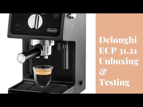 Affordable Home Coffee Maker Unboxing & Testing: Delonghi ECP 31.21