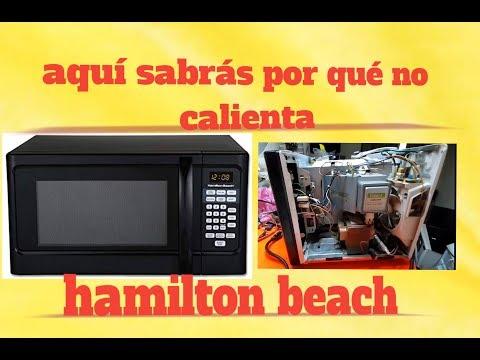 Microondas Hamilton beach no calienta y posibles fallas a futuro