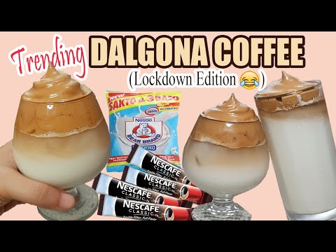 DALGONA COFFEE W/ COFFEE STICK AND BEARBRAND/ ICED COFFEE / PANGMASA RECIPE