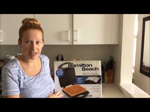 Hamilton Beach 4 Slice Waffle Maker Review