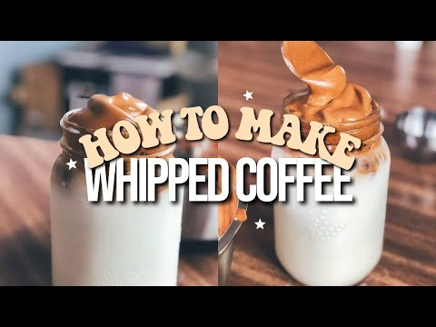 How To Make Tik Tok Whipped Coffee AT HOME! (3 Ingredient Recipe) Dalgona Coffee Recipe | Annie Dubé