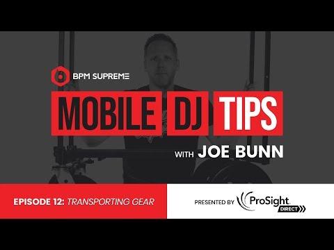 Transporting Gear   Mobile DJ Tips w/ Joe Bunn