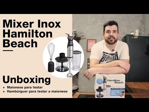 Unboxing Mixer Inox Hamilton Beach + Maionese pra testar + Hambúrguer