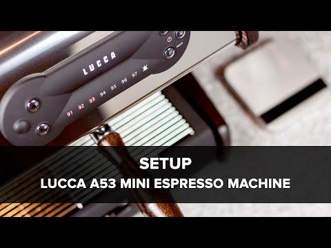LUCCA A53 Mini Espresso Machine Setup