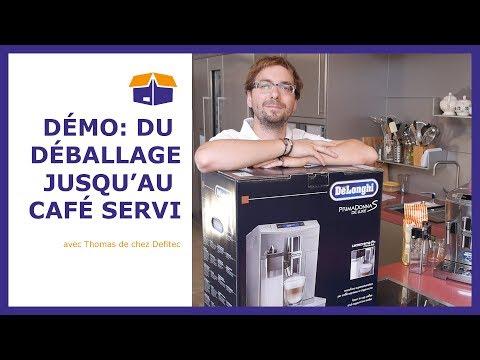 Déballage et test machine à café automatique Delonghi – unboxing et démo Defitec
