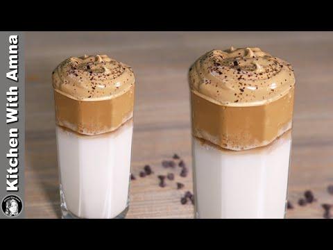 Dalgona Coffee Recipe Without Machine | How to make Dalgona Coffee | Kitchen With Amna