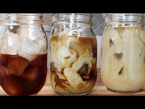 ICED COFFEE | DIY Iced Coffee At Home | COLD BREW COFFEE Recipe