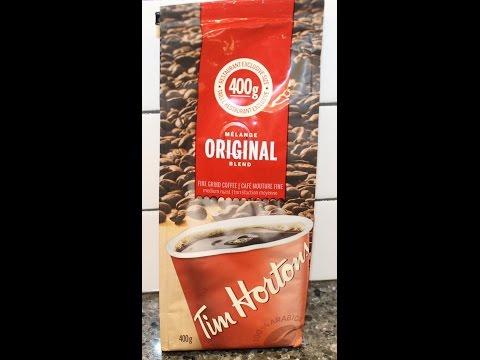 Tim Horton's Original Blend Fine Ground Coffee Review – Canada