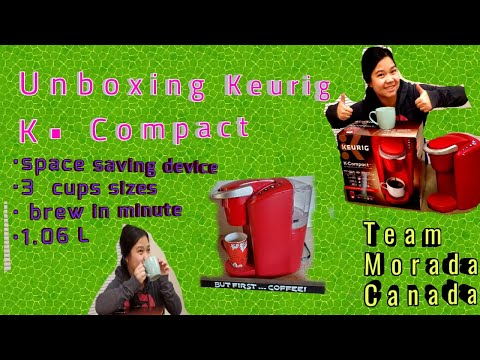 Keurig K-compact Single serve coffee maker – unboxing/review/testing