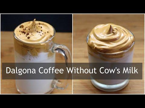 Dalgona Coffee Recipe – How To Make Dalgona Coffee Without Machine- Dairy Free Vegan Dalgona Coffee