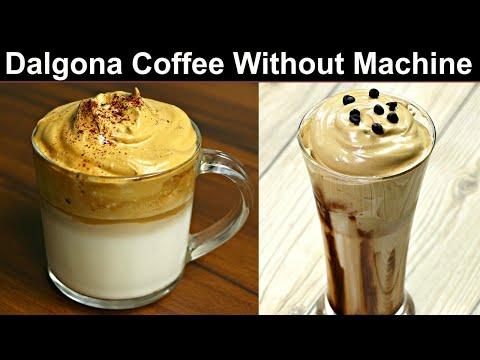 The Viral Internet Coffee   Dalgona Coffee Recipe Without Machine   Whipped Coffee   Kabita