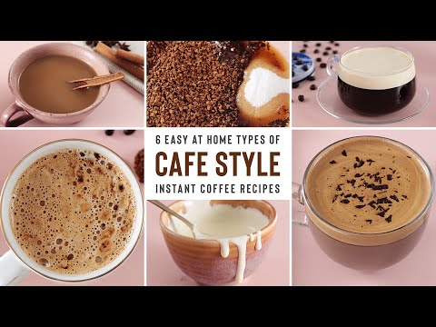 Cafe Style DALGONA Coffee Using INSTANT COFFEE | 6 Delicious Recipes