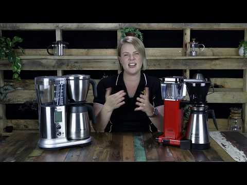 COFFEE MAKER REVIEW: Moccamaster Thermal Brewer vs Breville Precision Brewer   Crema Coffee Garage