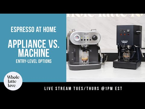 Espresso at Home: Appliance vs. Machine, Entry-Level Options