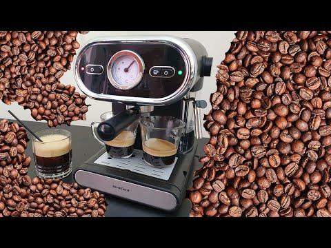 Silvercrest Espresso Machine SEM 1100 B3 Unboxing Testing