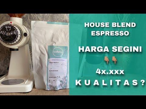 House blend espresso coffee review
