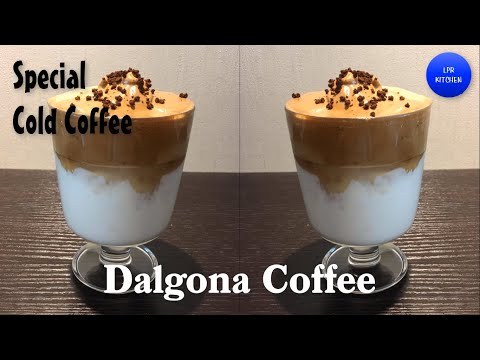 Homemade Easy Dalgona Coffee Recipe | Viral Tiktok Whipped Coffee Recipe | Trending Korean Coffee