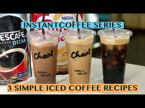 3 CLASSIC ICED COFFEE RECIPES: USING INSTANT COFFEE FOR 22OZ CUPS